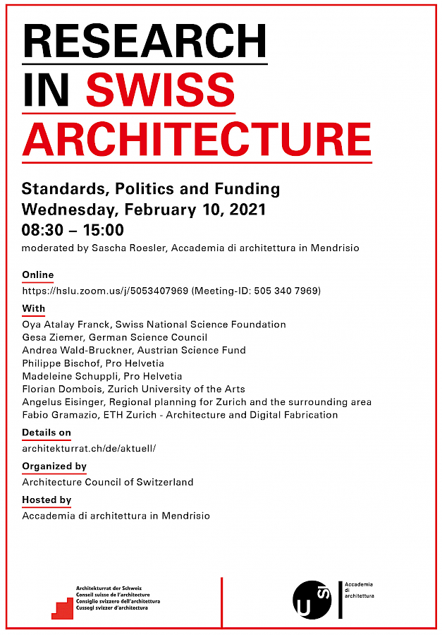 Research in Swiss Architecture - Standards, Politics and Funding